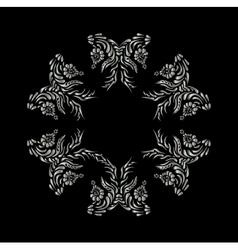 Ukrainian national motives Silver pattern vector image