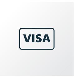 visa icon line symbol premium quality isolated vector image
