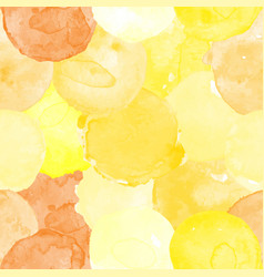 Watercolor seamless yellow pattern vector