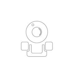 web cam flat icon vector image