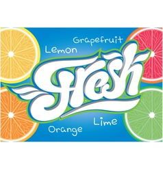 calligraphic inscription for fresh juice end water vector image