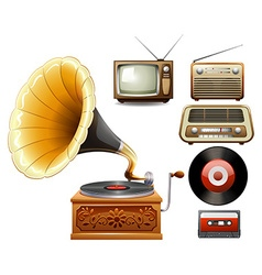 Electricity devices in old time vector image