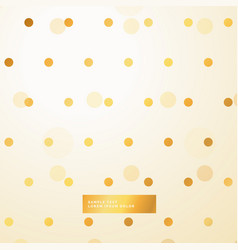 Golden polka dots beautiful background vector