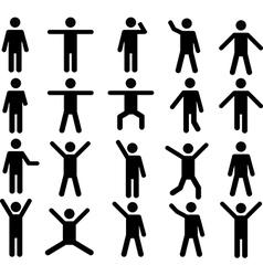 Human pictograms vector image