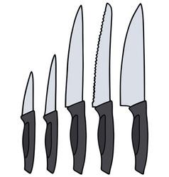 Kitchen knives vector image vector image