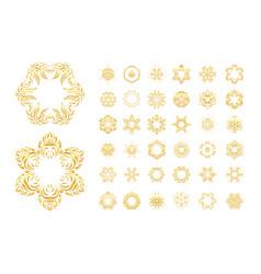 ornamental gold oriental mandal vector image vector image