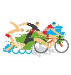 Triathlon competition vector image vector image