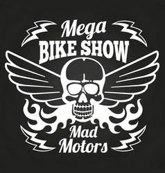 vintage motorbike show emblem vector image vector image