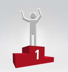 Winner on pedestal vector image