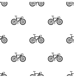 bicycle icon in black style isolated on white vector image vector image