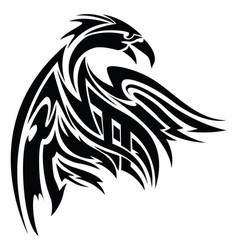 phoenix tattoo vintage engraving vector image