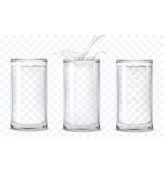 Set of icons glasses with a drink vector image vector image
