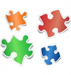 shiny jig saw puzzle pieces vector image vector image