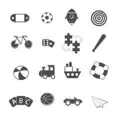 toy icons set vector image vector image