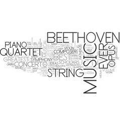 who is the greatest composer ever text word cloud vector image vector image