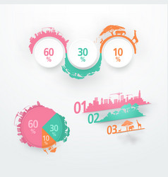 abstract elements for infographic template for vector image vector image