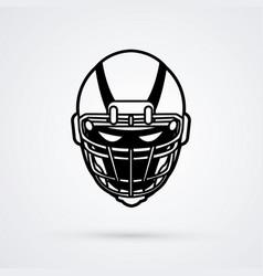 american football helmet graphic vector image