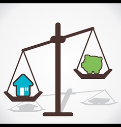 cost of house is more than you save vector image