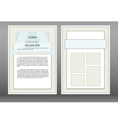 leaflet brochure booklet style material design vector image