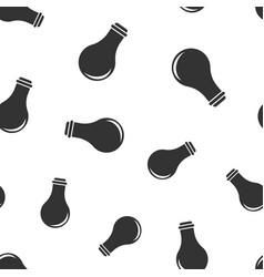 lightbulb seamless pattern background icon flat vector image