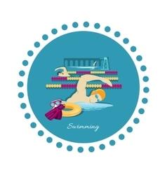 Swimming sport concept icon flat design vector