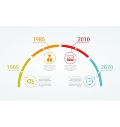 Timeline Infographic design template vector image vector image