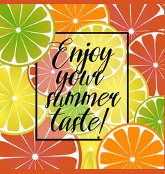 with citrus lemon grapefruit vector image