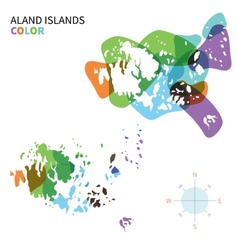 Abstract colored map of Aland Islands vector image vector image