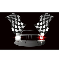 checkered flag racing vector image