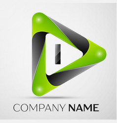 letter i logo symbol in the colorful triangle on vector image vector image