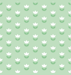 pale color holland tulip repeatable motif simple vector image vector image