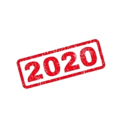 2020 Text Rubber Stamp vector