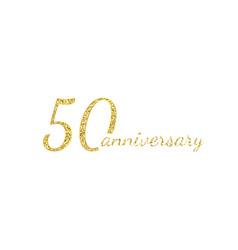 50 anniversary logo concept 50th years birthday vector