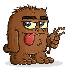 A bigfoot sasquatch cartoon character vector