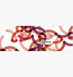 Abstract color lines on white modern colorful vector