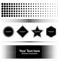 Abstract Halftone Design Elements for your design vector
