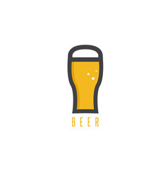 Abstract icon design template beer glass vector
