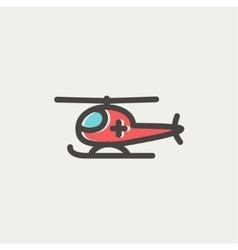 Air ambulance thin line icon vector image