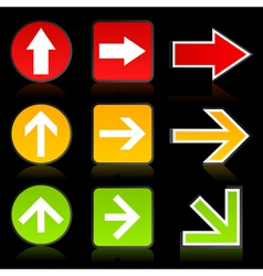 arrow of a traffic light vector image