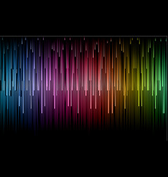 beautiful drop line with rainbow color background vector image