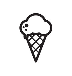 black and white melting ice cream balls in the vector image