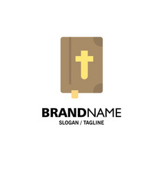 Book bible easter holiday business logo template vector