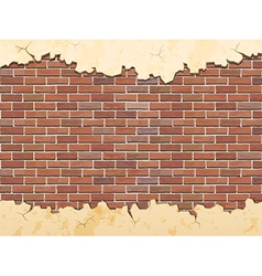brick wall and cracked concrete vector image