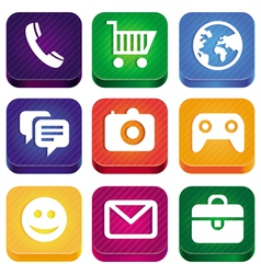bright app icons vector image