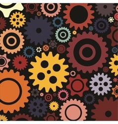 Bright colourfull gear background flat design vector
