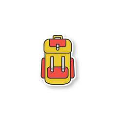 camping backpack patch vector image