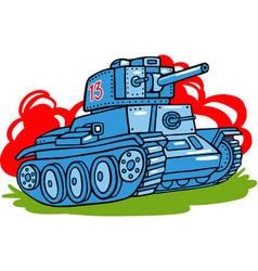 cartoon tank isolated vector image