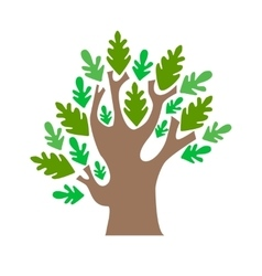 Cartoon tree green oak vector