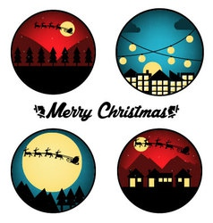 Christmas Night Circle vector image