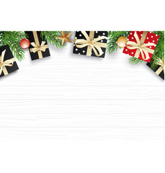 christmas with copy space for text on white vector image